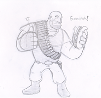 Commish: Heavy by Nintendrawer