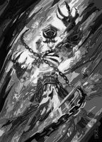 kel'thuzad Black And White by daylover1313