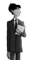 Paperman Digital Drawing by techs181