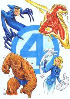 Fantastic Four card set by csmithart