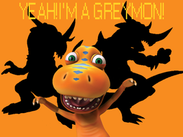 Yeah! I'm a Greymon! Wallpaper by DigiPonyTheDigimon