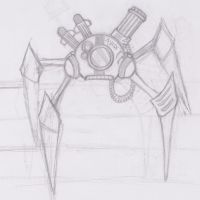spider legged robot by haha-tommy
