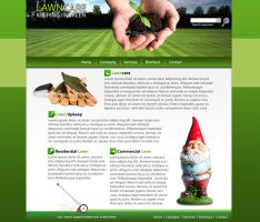 Lawncare Website Mockup by dhrandy