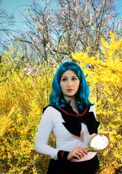 Michiru Kaioh Sailor Stars School Uniform by dismaldreary
