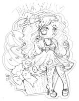 Sweet Chibi Sketch ::Commission:: by YamPuff