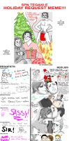 HOLIDAY SPN SLASH MEME by thehaydenclone