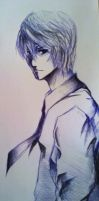 Crosshatching - Light Yagami by UryuXHimeXUlquiorra