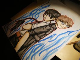 WIP AO no exorcist by Mojja