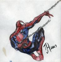 Spiderman Ink and Watercolor by Dopplegager