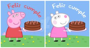 Peppa and Suzy's Happy B-Day by JaviDLuffy