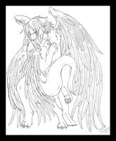 Angels - Lineart by White-Mantis