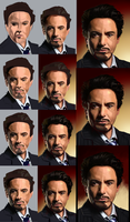 Tony Stark Progression by Slacker-Drak