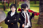 Okumura twins in park 6 by signore-illusionista