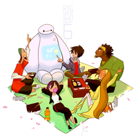 Big Hero 6 - Cherry Blossom Picnic by andrewk