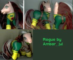 My little pony custom as Rogue by AmbarJulieta