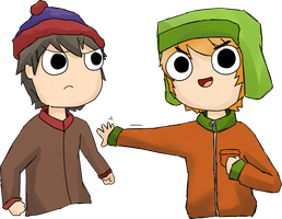 Stan and Kyle by Volcanoid
