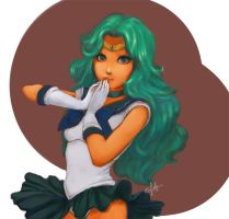 Pretty Sailor Neptune by shesoliloquy