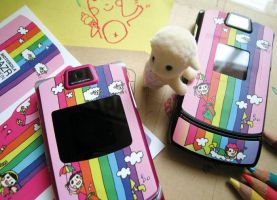 Motorola RAZR Rainbow Skin by paperplane-products