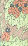 the lady bird and the leaf by ThirtiesKnight