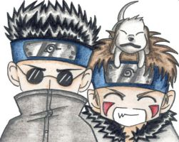 Team 8: Shino and Kiba by VeeBunny