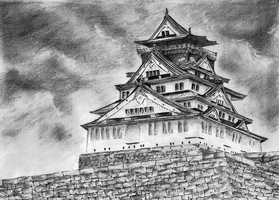 Osaka Castle by WielkiBoo