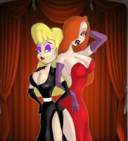 Hello Nurse and Jessica Rabbit by Lttle-Horrors