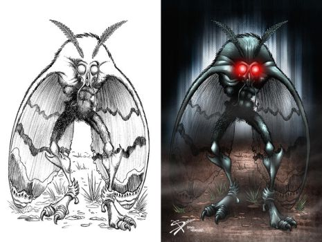 MOTHMAN by necronocimon