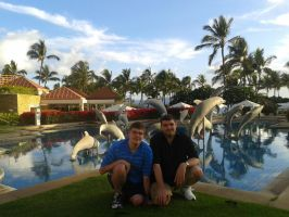 My brother and I at Hawaii. by Montyclan
