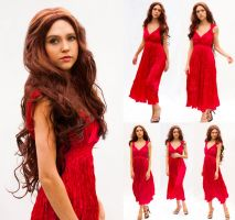 Red dress set by CathleenTarawhiti