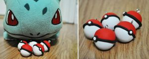Pokeball Charms by NellyCreates
