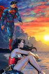 Superman wonder woman stress relieved by MayanTimeGod