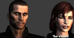Shepard's creepy smile pose (fanmade) by MichealJordy