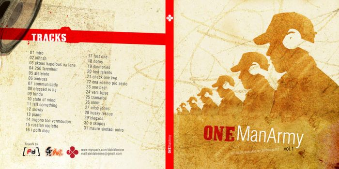 one man army cd cover by FaceyFace