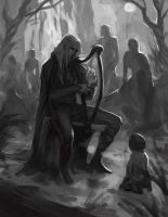 Finrod Felagund meets a man for the first time by sagasketchbook