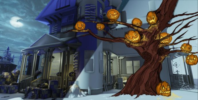 Halloween Tree WIP by demondeathx