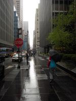 rain in the new york city by JosemaBlack
