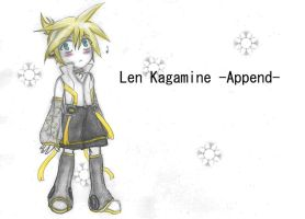 Chibi Len/Append -Prize Drawing by TheKagamineFanatic
