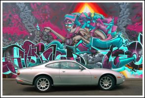 Jaguar XKR w Graffiti by tmz99