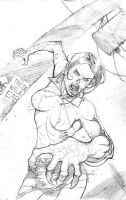 walking dead back cover pencil by cliff-rathburn