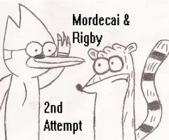 Mordecai and Rigby 2nd Attempt by VaultBoysTriumph