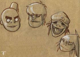 GORILLAZ by CamT