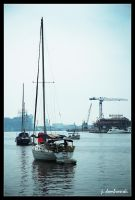Foggy Harbor by clarinetJWD