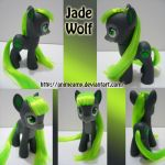 Jade Wolf Pony by AnimeAmy