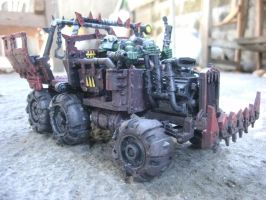 WH40K Ork Trukk Isometric Right by raipo