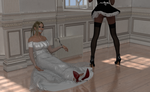 Captured by the Bride's Maid by AmethystPendant