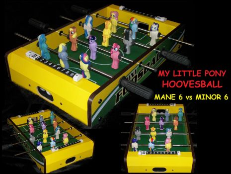 MLP Hoovesball (foosball) game 4 sale by MadPonyScientist