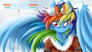 Rainbow Dash wallpaper by KnifeH