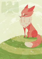 Fox calendar illustration 4 by Chigle