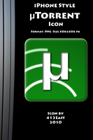 iPhone Style uTorrent Icon by 413East