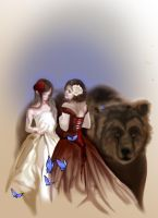 Snow white and rose red by Naralim